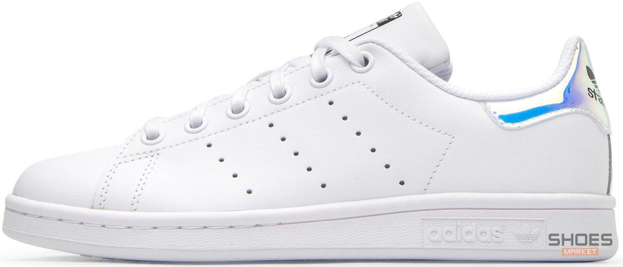 Женские кроссовки Adidas Stan Smith White Metallic Silver-Sld AQ6272, Адидас Стен Смит