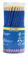 Карандаш графитовый пластиковый Buromax Jobmax HB синий