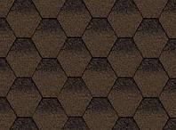Битумная черепица Kerabit Тройка коричнево-черный