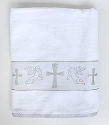 Крыжма для ребенка - махровое полотенце с крестом 708-1