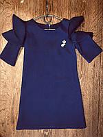 Школьное платье с оборками, рр. 128-152. Украина