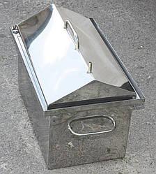 Коптилка горячего копчения с водяным затвором из нержавеющей стали толщина 1,2 мм. Большая