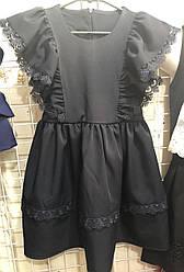Школьное платье с оборками, рр. 116-134. Украина