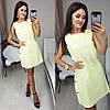 Короткое женское льняное платье декорировано пуговицами 42, 44, 46, 48, фото 4