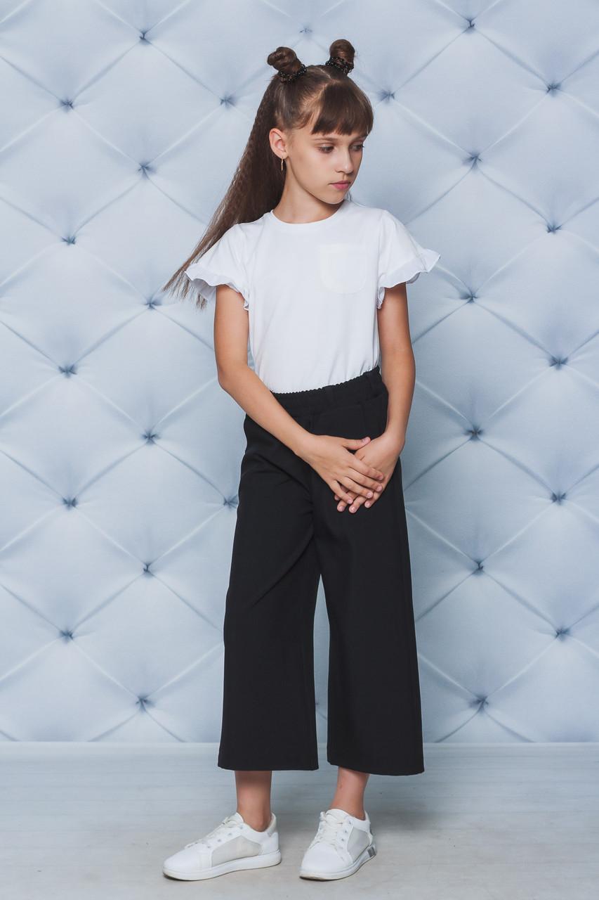 Блуза школьная трикотажная белая