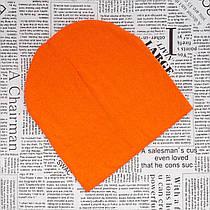 Демисезонная шапка для детей от 8 лет и взрослых Оранжевая