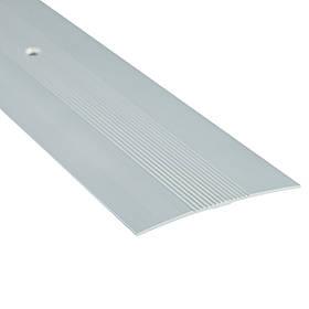 Алюминиевый профиль одноуровневый рифленый анодированный 60мм х 0.9 м серебро
