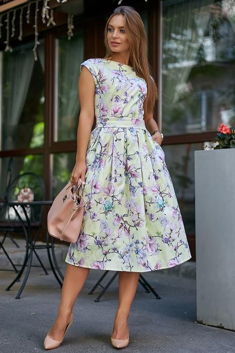Красивое летнее женское платье 3578 лимонный (S-XL)