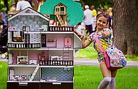 Большой домик для кукол Лол с мебелью Дом приключений ( 9 шт, 4 этажа )