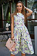 Красивое летнее женское платье 3578 лимонный (S-XL), фото 2