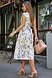 Красивое летнее женское платье 3578 лимонный (S-XL), фото 4