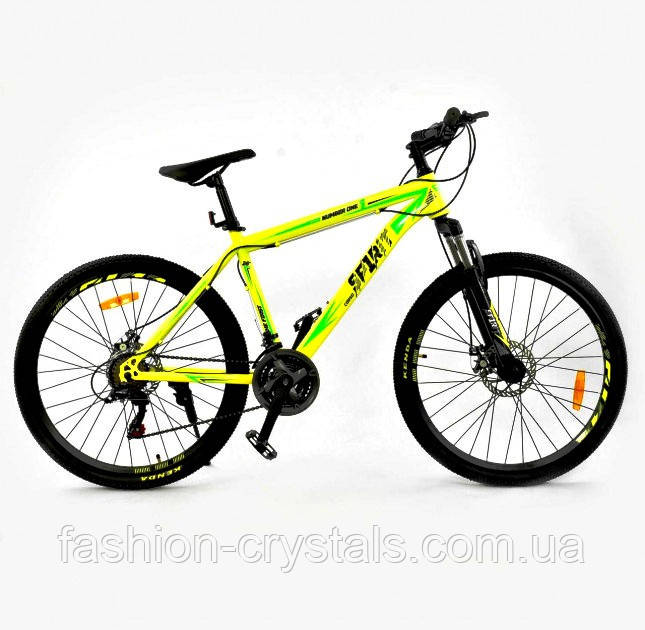 Спортивный велосипед Corso spirit 26 дюймов желтый