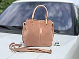 Женская сумочка из натуральной замши В наличии 6 цветов, фото 5