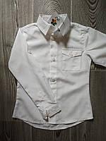 Рубашка школьная для мальчика белая классическая 116