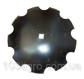 Тарілка борони дискової зубчаста 510 мм*4 мм (ромашка)