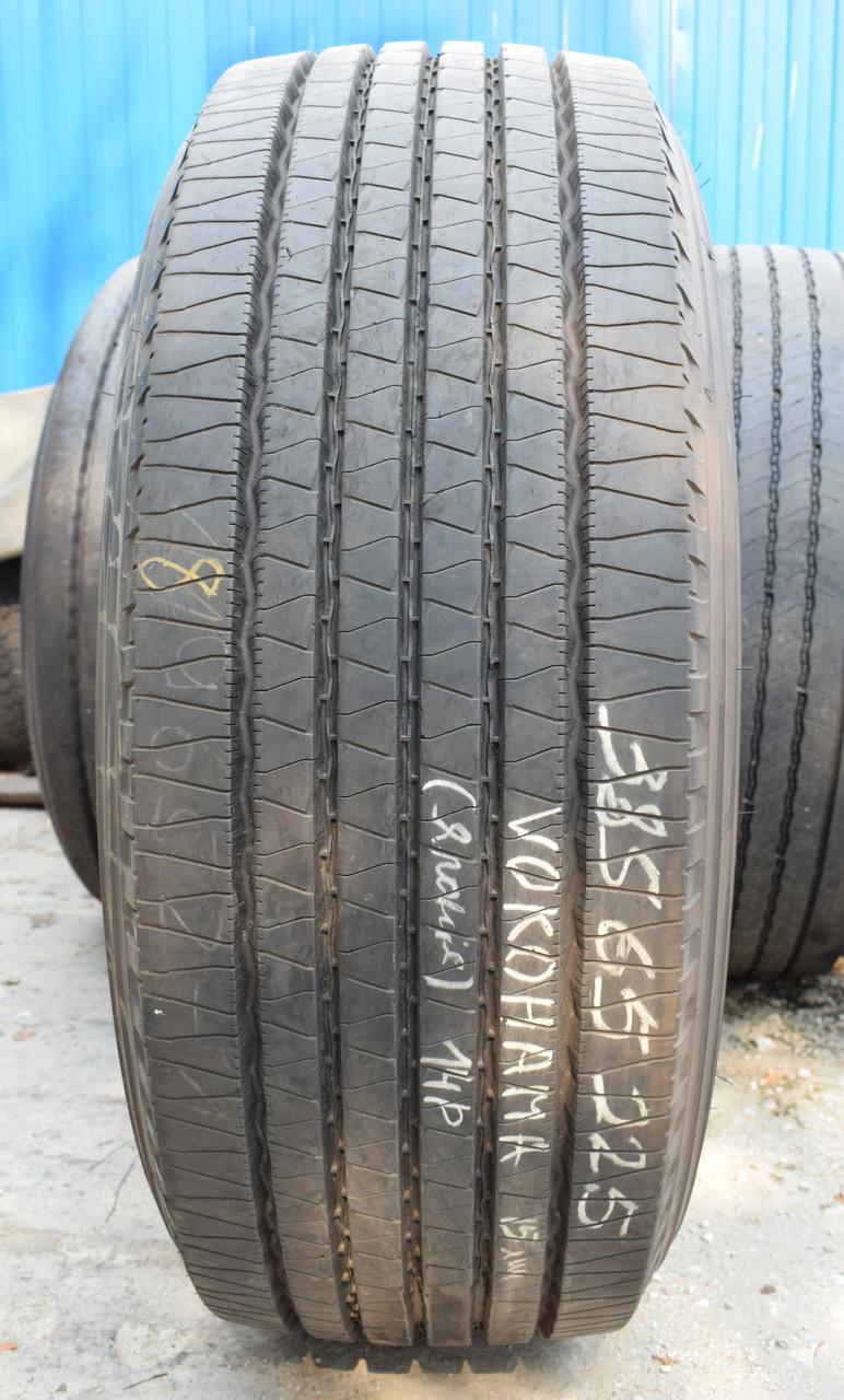 Грузовая шина б/у 385/65 R22.5 Yokohama 106ZS, 14.2 мм, одна