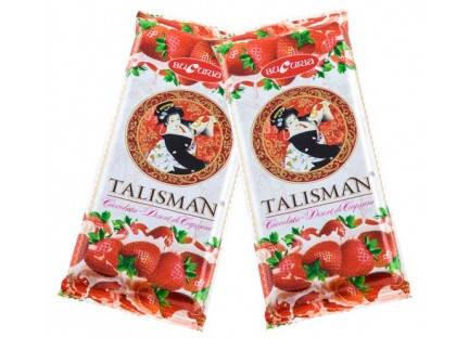 Молдавский шоколад десертный TALISMAN (DESERT DE CAPȘUNI) 50 гр ТМ Букурия, фото 2