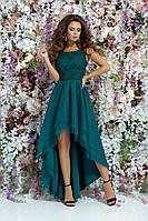 Платье выпускное длинное сзади вечернее платье очень красивое длинное вечернее платье размер:42,44,46