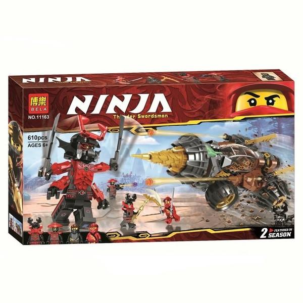"""Конструктор Ninja Bela 11163 """"Земляной бур Коула"""" (аналог Lego Ninjago 70669), 610 дет"""