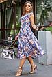 Молодежное летнее женское платье 3580 темно-синий (S-XL), фото 3