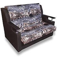 Диван - кровать Марта 110см (Париж+шоколад). Раскладной диван с нишей для белья