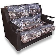Диван - ліжко Березня 110см (Париж+шоколад). Розкладний диван з нішею для білизни