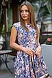 Молодежное летнее женское платье 3580 темно-синий (S-XL), фото 4