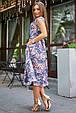 Молодежное летнее женское платье 3580 темно-синий (S-XL), фото 5