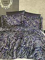 Постельное белье сатиновое комплект Турция простынь 240х260 пододеяльник 200х220 наволочки (50х70 и 70х70)х2