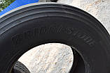 Грузовая шина б/у 385/65 R22.5 Bridgestone R-Steer 001, 8 мм, 2017 г., одна, фото 9