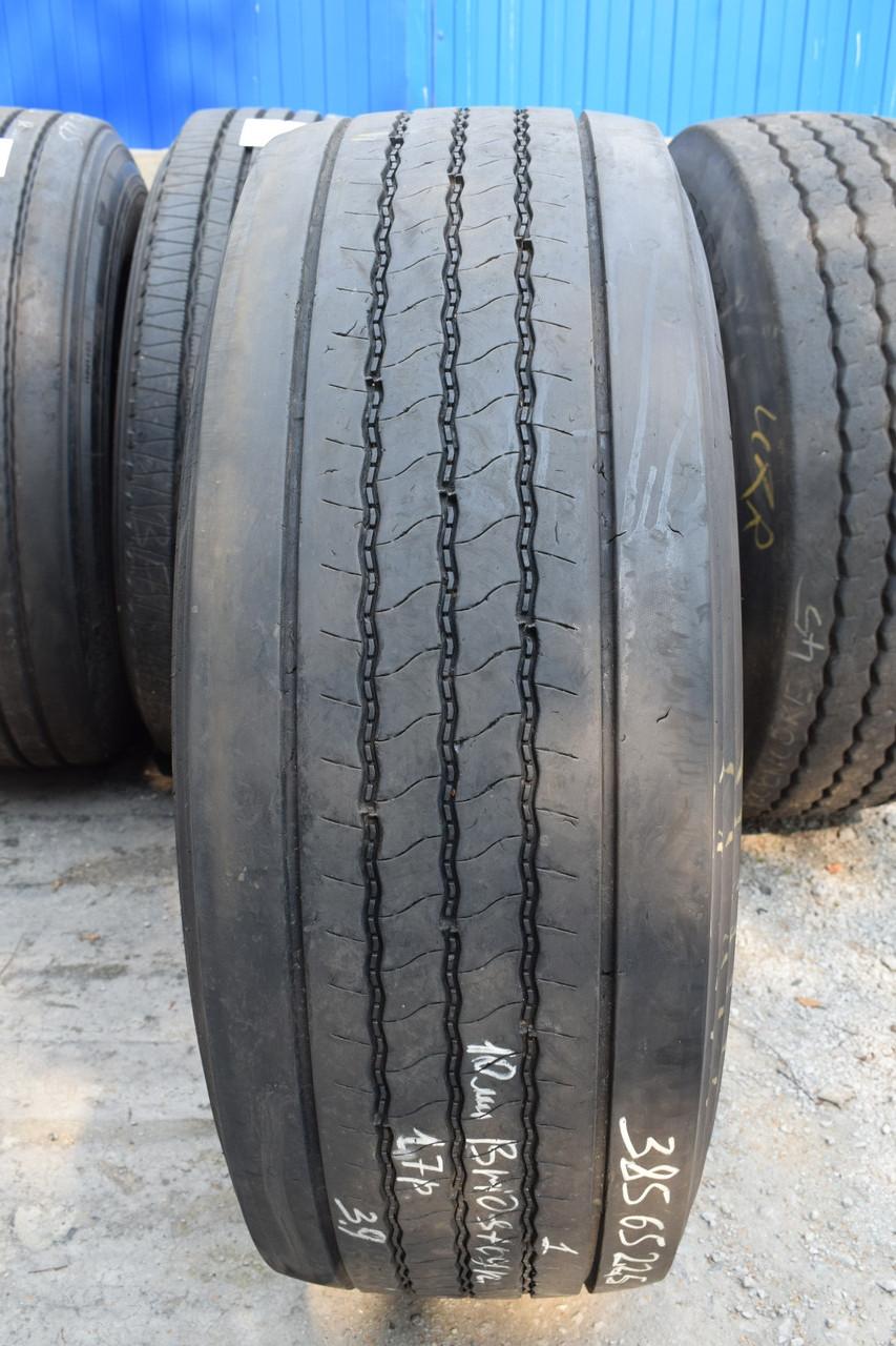 Грузовая шина б/у 385/65 R22.5 Bridgestone R-Steer 001, 8 мм, 2017 г., одна