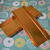 Подложка для эклеров золото (16х4 см.) 1 шт.