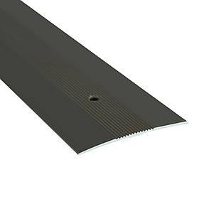 Алюминиевый профиль одноуровневый рифленый анодированный 60мм х 0.9 м бронза