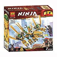 """Конструктор Ninja Bela 11160 """"Золотой Дракон"""" (аналог Lego Ninjago 70666), 188 дет, фото 1"""
