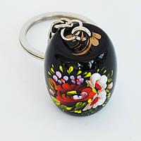 Брелок расписной. Украинский сувенир. Чернобрывцы в букете., фото 1