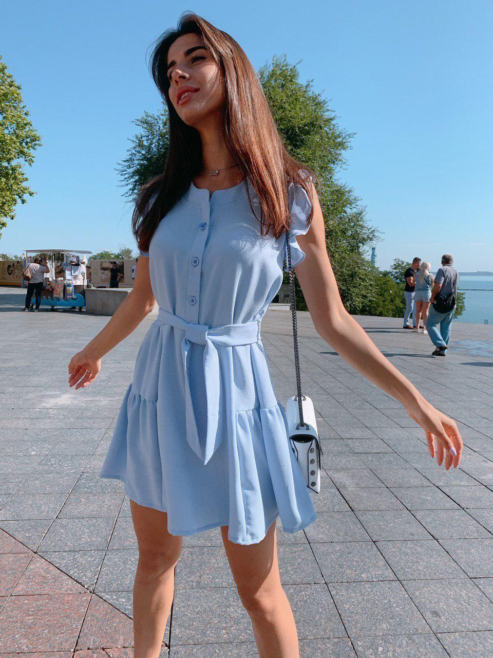 Женское красивое платье мини на лето - три расцветки