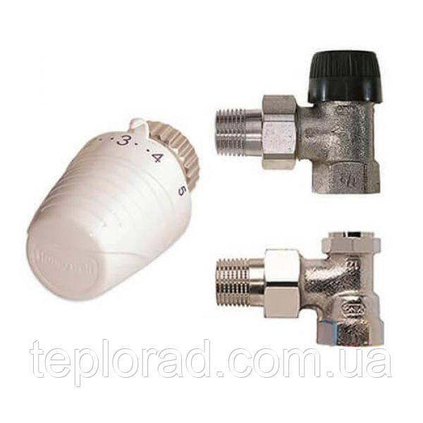 Комплект термостатический Honeywell VTL320 угловой 1/2