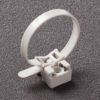 Хомут пластиковый с усиленным креплением 8х180 белый (100 шт.) (универсальный) UNIFIX