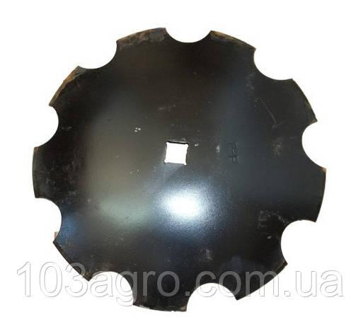 Тарілка борони дискової зубчаста 510 мм*3 мм (ромашка), фото 2