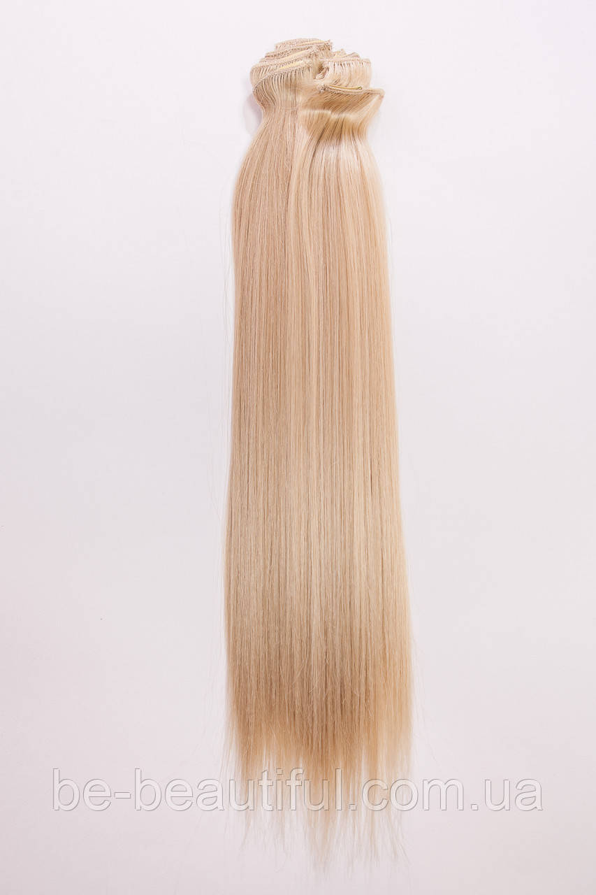 №2.Набор из 8 прядей,цвет мелирование светло-русый с блондо