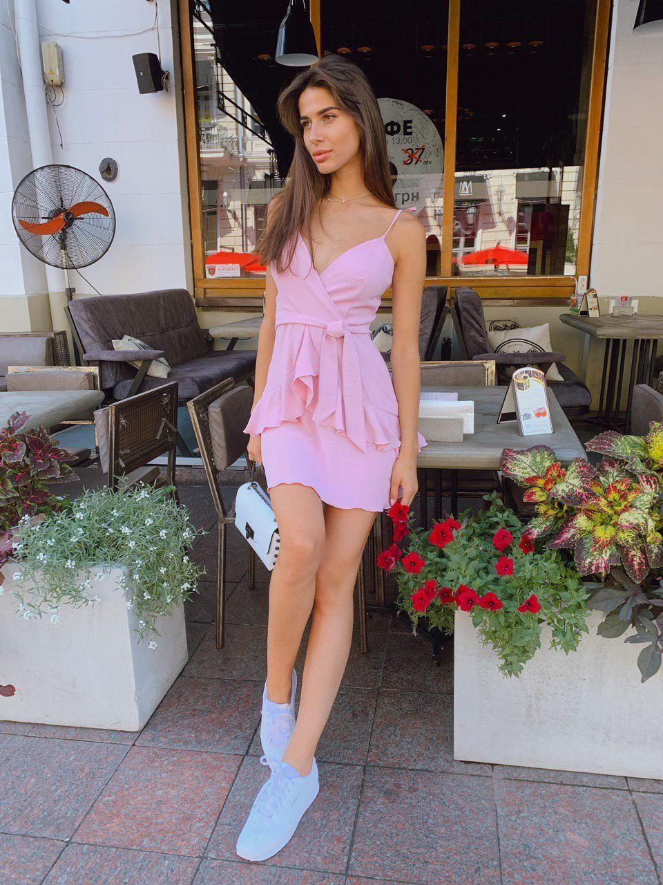 Яркое платье мини на лето - в расцветки