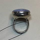 Голубой агат сапфирин кольцо круглое натуральный голубой агат кружевной 21 размер Индия, фото 4