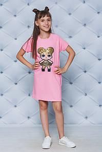 Платье летнее для девочки Лол персик