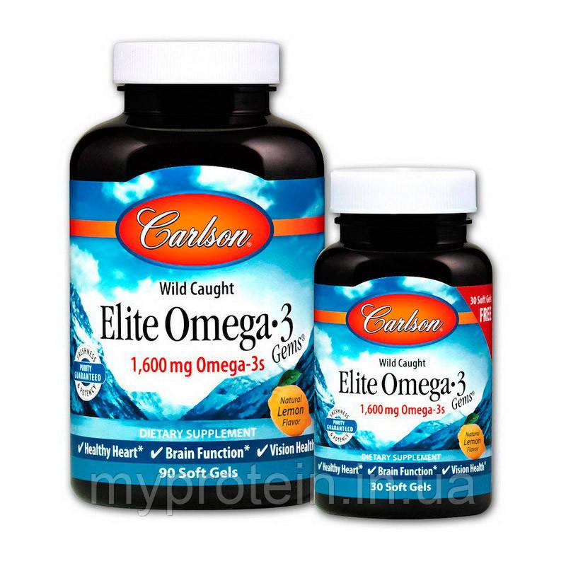 Carlson Labsжирные кислоты Омега 3 Elite Omega 390+30 soft gels