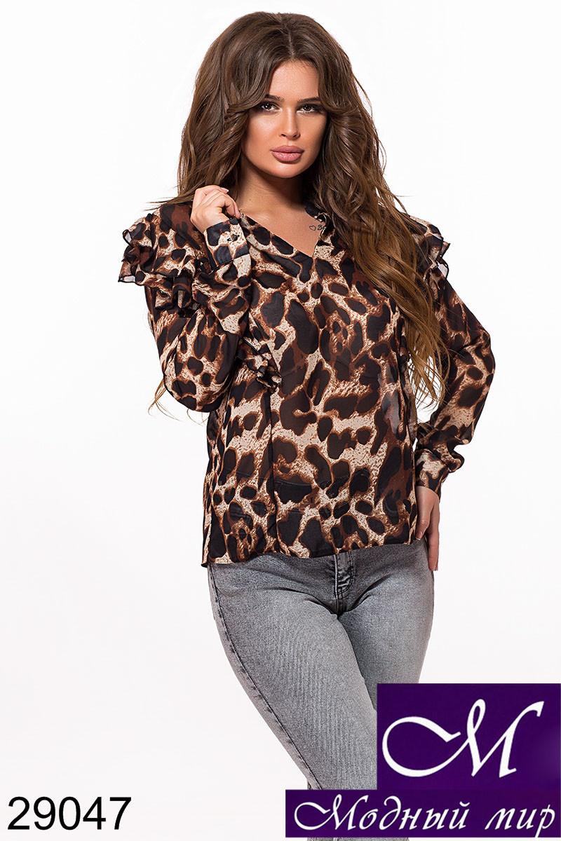 Женская шифоновая блуза (р. S-M, M-L) арт. 29047