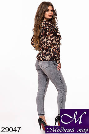 Женская шифоновая блуза (р. S-M, M-L) арт. 29047, фото 2