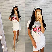 Красивое платье-футболка в спортивном стиле