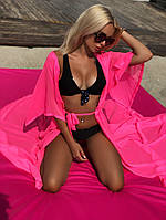 Пляжная туника парео №499 (р.42-48) розовая, фото 1