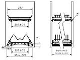 Кухоний посудосушитель Т4 GIFF Нержавіюча сталь з алюмінієвою рамкою (2 полиці, 2 піддона, 4 кріплення), фото 6