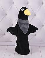 Игрушка рукавичка для кукольного театра Ворона, кукла перчатка на руку